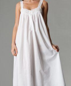 Aralia white cotton nightgown