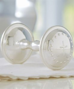 Online and Washington DC Maryland Virginia Silverplate Baby Rattle