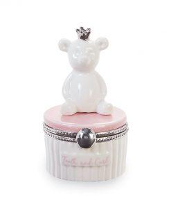 Washington DC Maryland Virginia Pink Bear Tooth and Curl Ceramic Keepsake Box